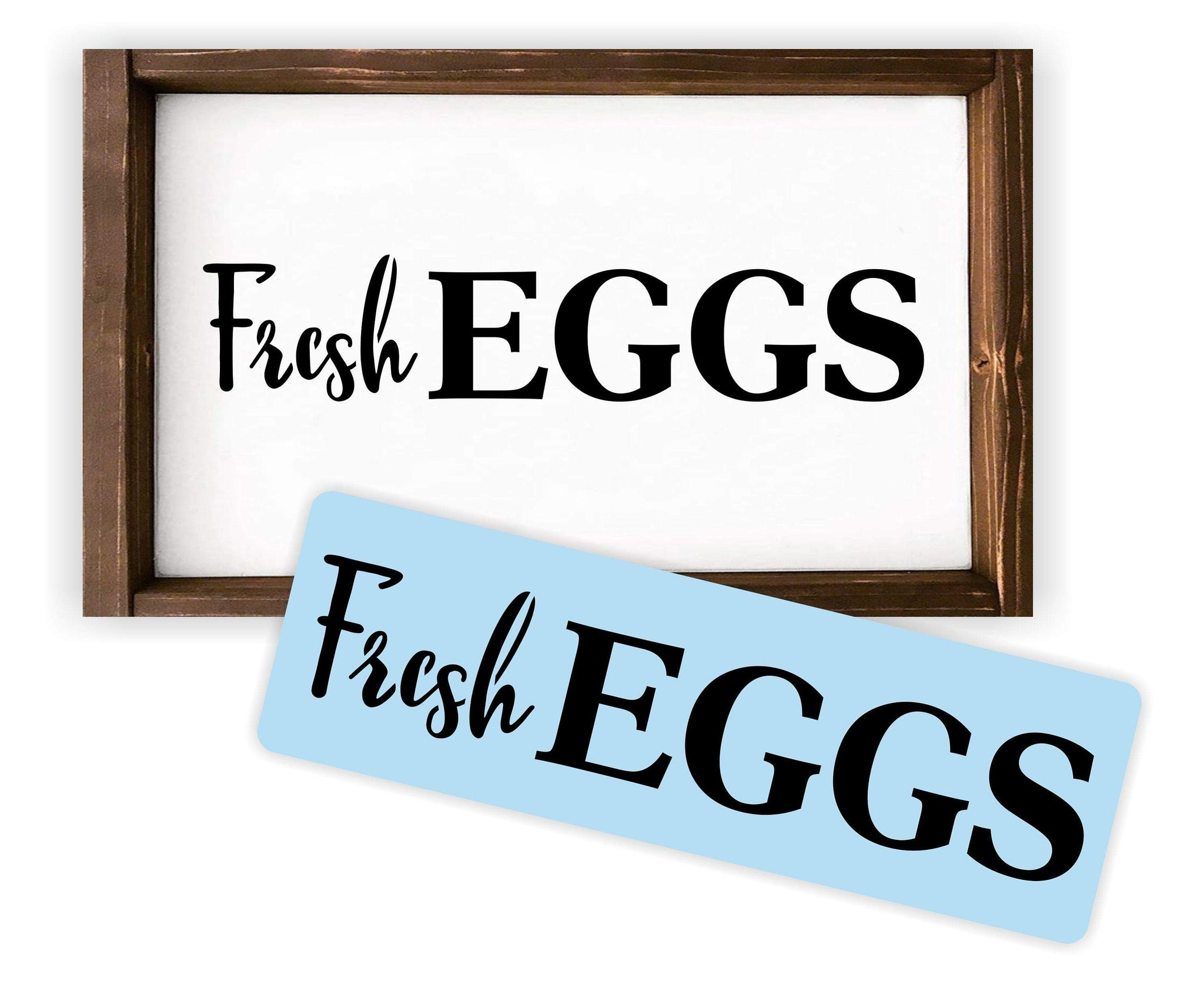 Fresh Eggs Stencil  - Paint Your Own Wood Sign - Reusable & Sturdy