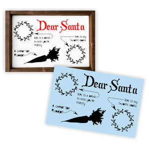 Santa Tray - Reusable Stencil For Wood Sign - Cookies and Milk, Carrot for Rudolph