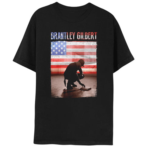 Brantley Gilbert American Flag Photo Tee