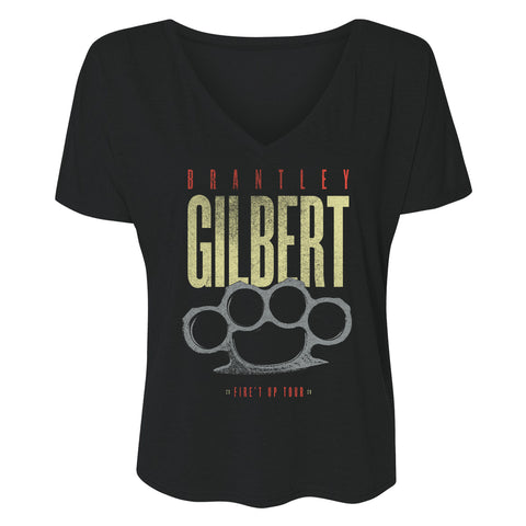 Fire't Up Tour 2020 Ladies V-Neck Tee
