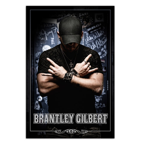 Brantley Gilbert Stone Cold Country Poster-Brantley Gilbert