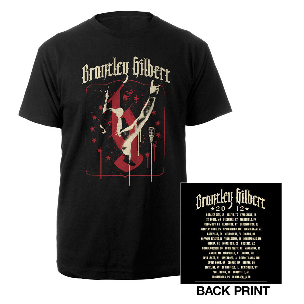 Stars and Spray Tour Tee-Brantley Gilbert