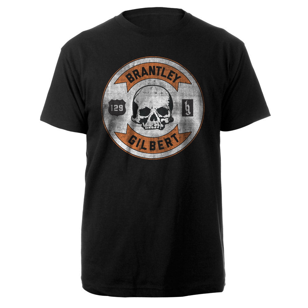 Brantley Gilbert Circle Skull Tee-Brantley Gilbert