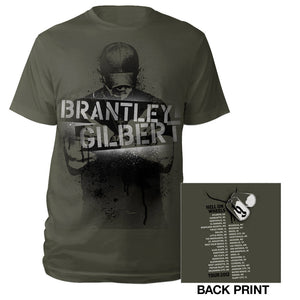 Stencil Photo Tee-Brantley Gilbert