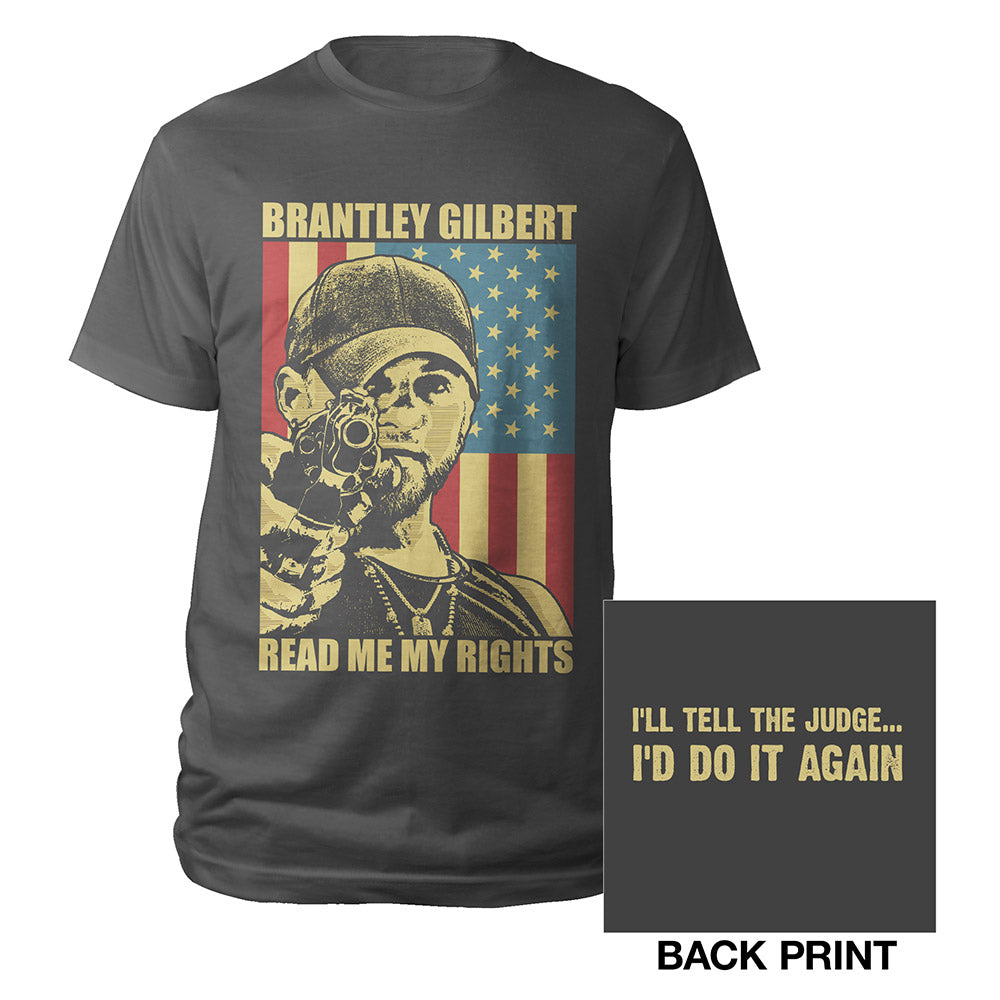 Brantley Gilbert READ ME MY RIGHTS Shirt Charcoal-Brantley Gilbert