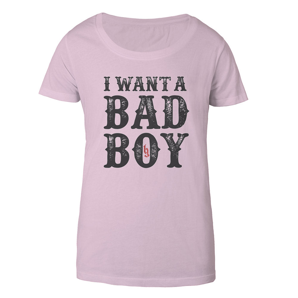 I want a Bad Boy Women's Tee Pink-Brantley Gilbert