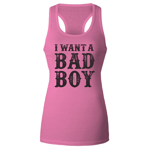 I want a Bad Boy Ladies Tank Top-Brantley Gilbert