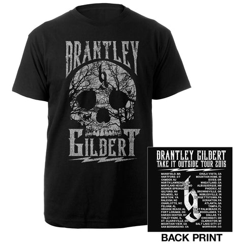 Take it Outside Skull Tee-Brantley Gilbert