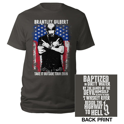 Crossed Arms Take it Outside Tour 2016 Tee-Brantley Gilbert