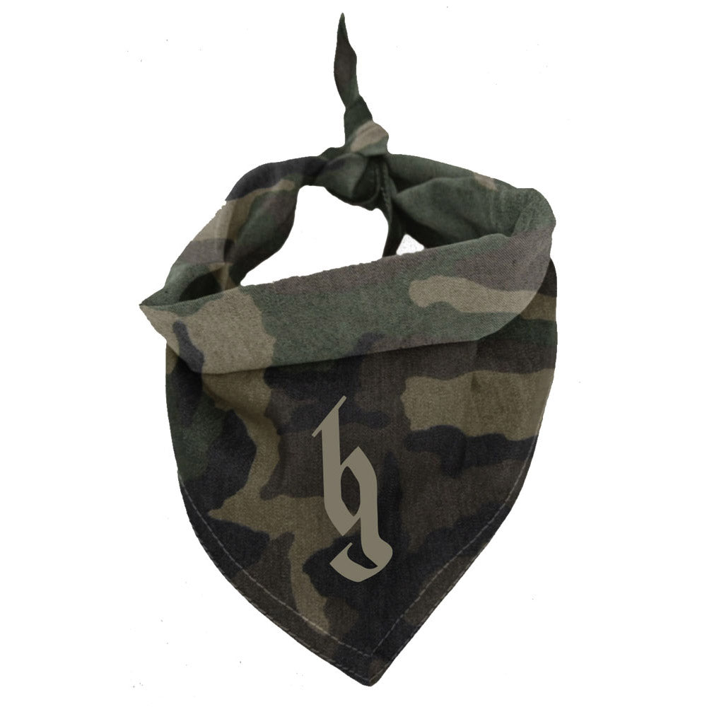 BG Logo camo dog bandana-Brantley Gilbert