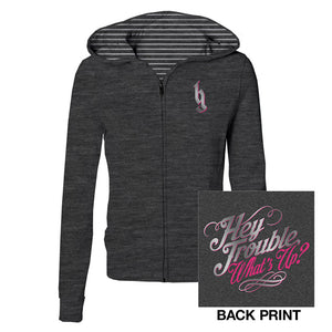 Hey Trouble Ladies Zip Hoodie-Brantley Gilbert