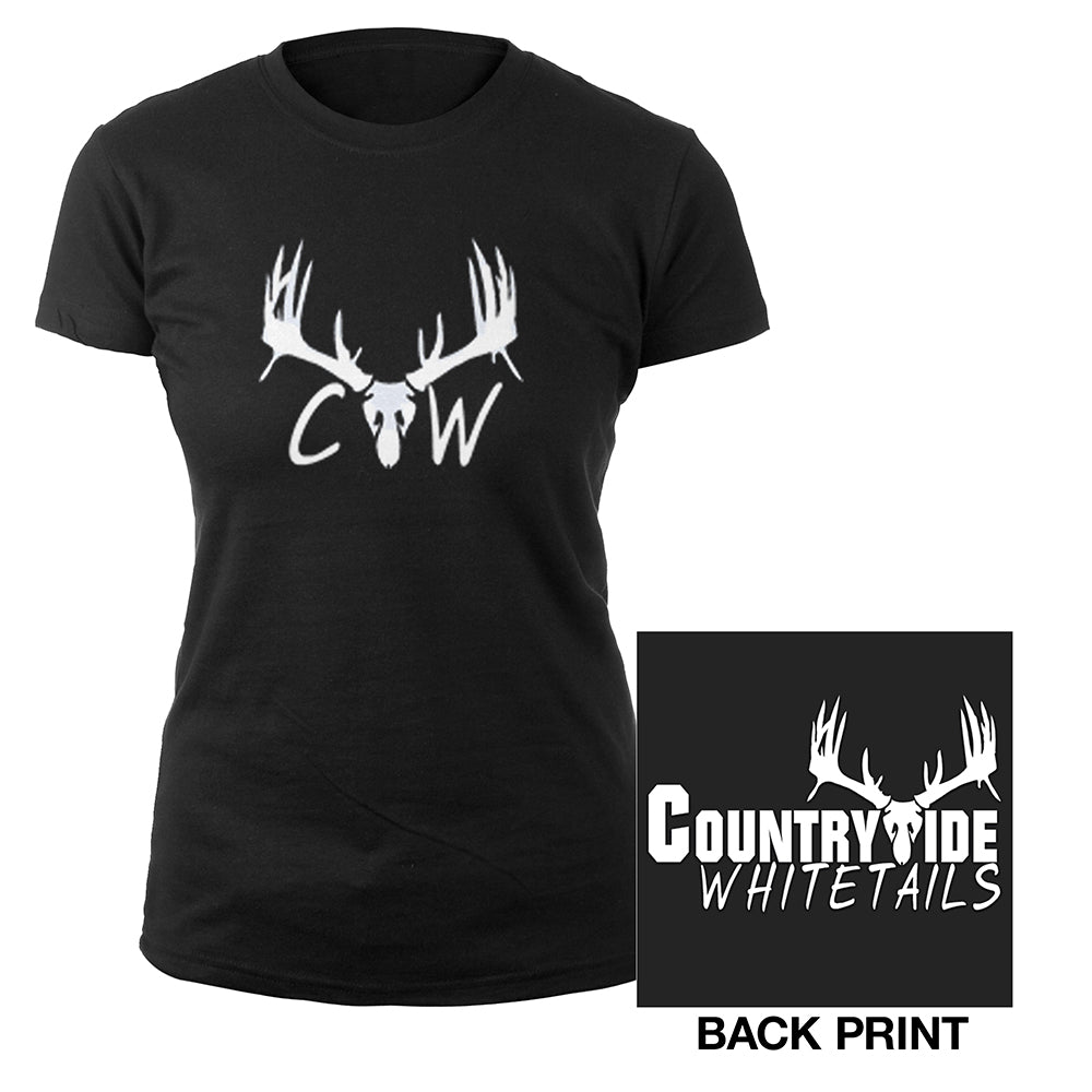 Country Wide White Tails ladies tee-Brantley Gilbert