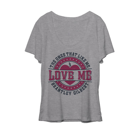Love Me Ladies Slouchy Tee-Brantley Gilbert