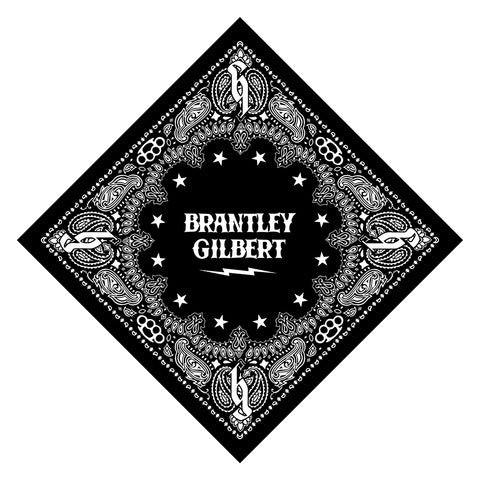 Brantley Gilbert Paisley Bandana-Brantley Gilbert