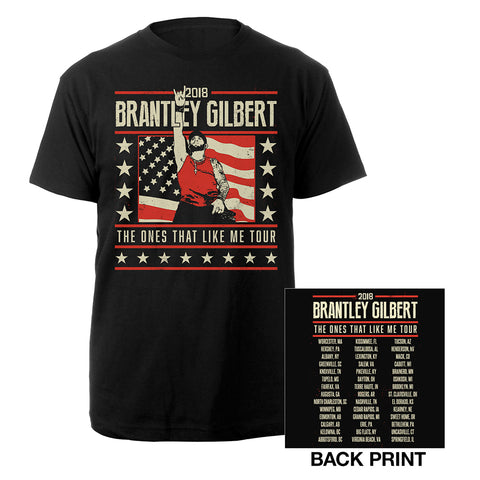 The Ones That Like Me Flag Tee-Brantley Gilbert