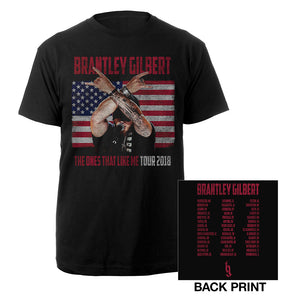 The Ones That Like Me Flag Photo Tee-Brantley Gilbert