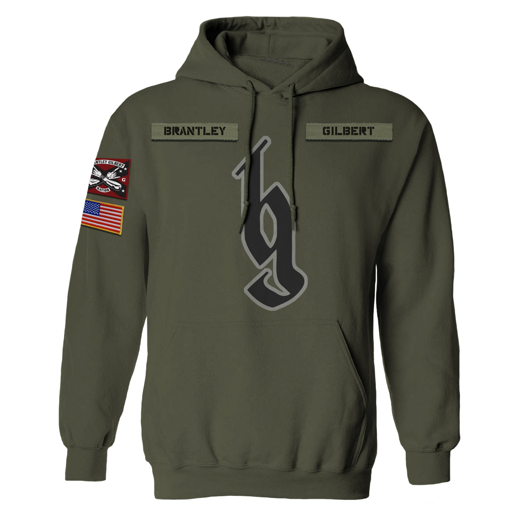 Brantley Gilbert Patch Hoodie-Brantley Gilbert