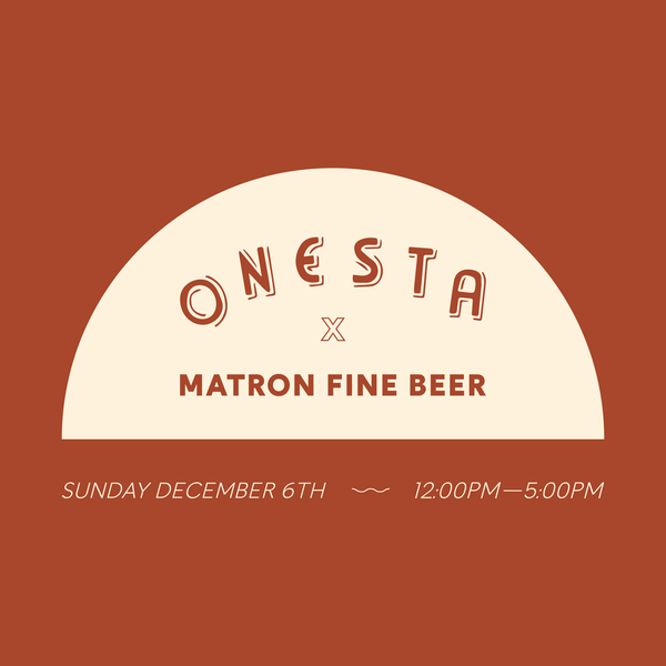 ONESTA KITCHEN TAKE OVER - SUN, DEC 6