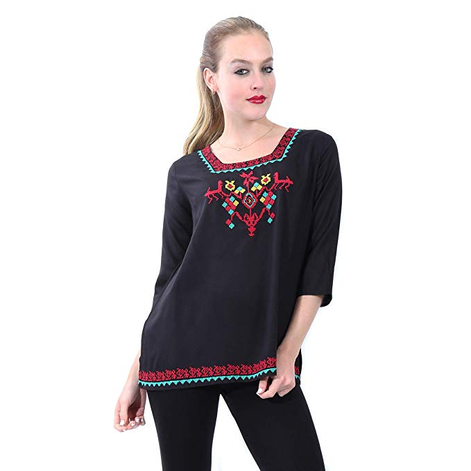 Mexican Style Embroidered Top