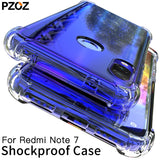 PZOZ For Xiaomi Redmi Note 7 Case Cover Silicone Shockproof Redmi 7 Note 7 Pro Transparent Protective Xiomi mi 9t note7 K20 case