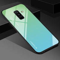 Tempered Glass Case For Samsung Galaxy S10 S8 S9 Plus A50 A30 A70 A60 A40 A20E A10 A7 2018 Note9 8 M40 M30 M20 Aurora Color Case