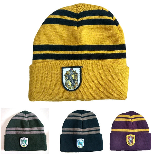 Harri Potter Hats Cap Gryffindor/Slytherin/Hufflepuff/Ravenclaw Badge Cap Cosplay Costumes Accessories Halloween Christmas Gifts