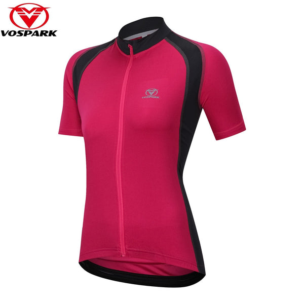 VOSPARK Women's Cycling Jersey Short Sleeve Cycling Clothing Top Bicycle Shirt MTB Road Mountain Bike Clothes Maillot Ciclismo