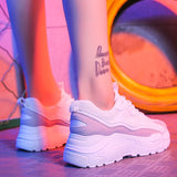 Women Shoes 2019 New Chunky Sneakers For Women Vulcanize Shoes Casual Fashion Dad Shoes Platform Sneakers Basket Femme Krasovki