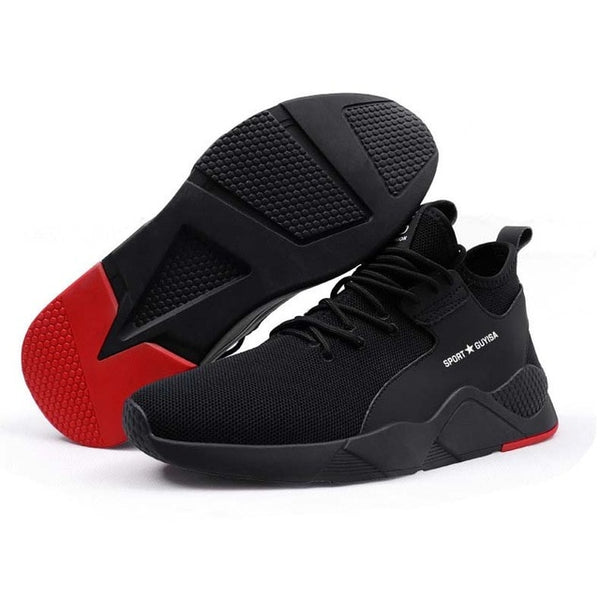 Men's Summer Breathable Work Safety Shoes For Men Outdoor Steel Toe Footwear Ankle Safety Boots Indestructible Stylish Sneakers