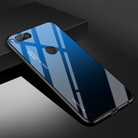 For Xiaomi Redmi Note 5 6 7 Pro 6A Case Gradient Tempered Glass Cover For Xiaomi Mi 8 A2 Lite A1 9 Mi8 Mi6 Mi9 Pocophone F1 Case