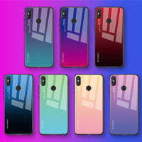 Gradient Tempered Glass Case For Xiaomi Redmi Note 7 5 6 Pro Pocophone F1 Mi8 Mi A2 Lite 6X 5X Mi9 SE 9t Cover Protective Fundas