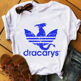 Daenerys Dragon camiseta Dracarys funny t-shirt men summer new white casual GOT unisex tshirt cool Harajuku street wear t shirt