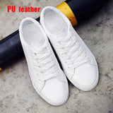 Classic White Sneakers Women Casual Canvas Shoes Female Summer Lace-Up Flat Trainers Fashion Zapatillas Mujer Vulcanize Shoes