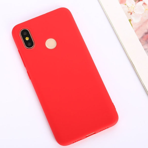 Color TPU Silicone Case For Xiaomi Redmi Note 6 5 7 Pro Redmi 7 6A 5 Plus Matte Case For Xiaomi Mi 9 SE Mi 9T Mi8 Lite Mi A2 A1