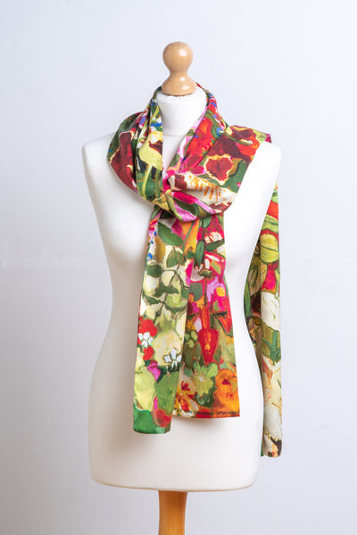 Scarf - Silk Satin 'Seedbox Theatre'