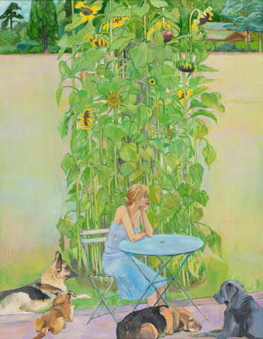 Sunflowers, Nikki and Dogs