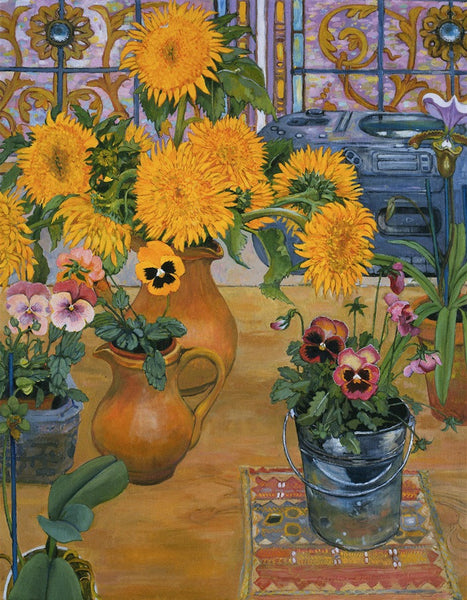 Sunflowers, Pansies and Radio