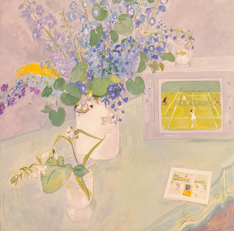 Blue Flowers and Wimbledon