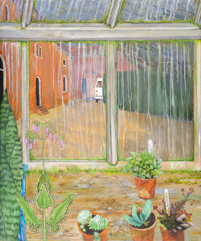 Greenhouse in the Rain