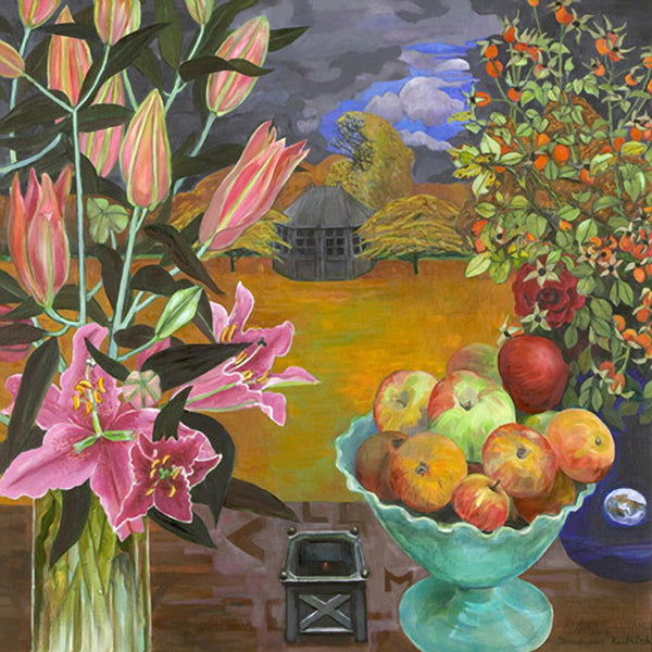 Lillies Apples and Garden