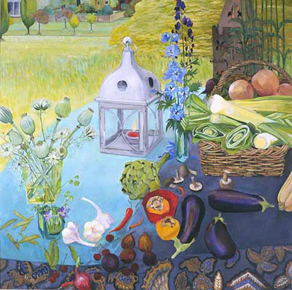 Still Life with Lanterns & Leeks