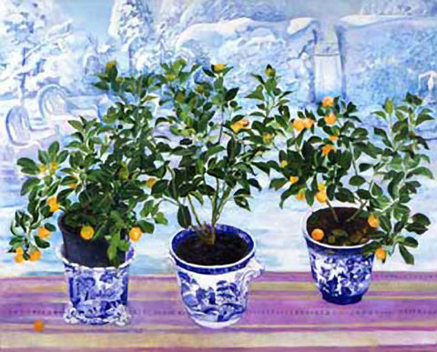 Three Orange Trees