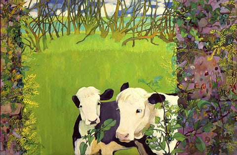 Two Young Cows