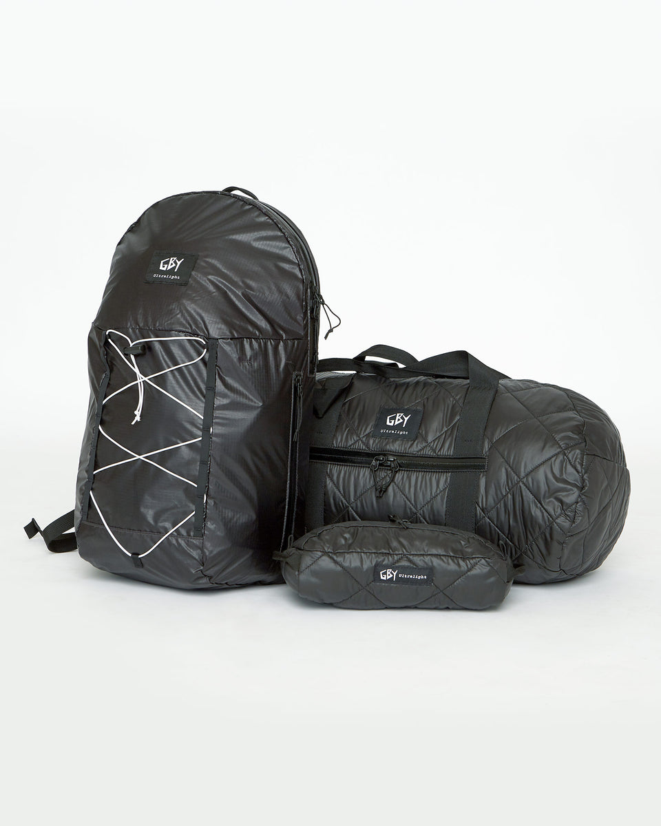 GBY Ultralight - Laptop Day Pack Backpack - Quilted Gym Duffel Bag - Utility Pouch Toiletry Dopp Kit