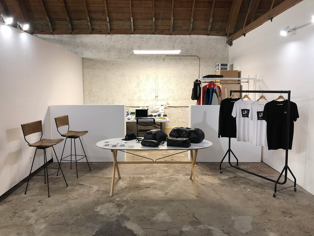 GBY Ultralight - Retail showroom, workshop and workspace in the Los Angeles Arts District at 812 Mateo Street, Los Angeles CA 90021