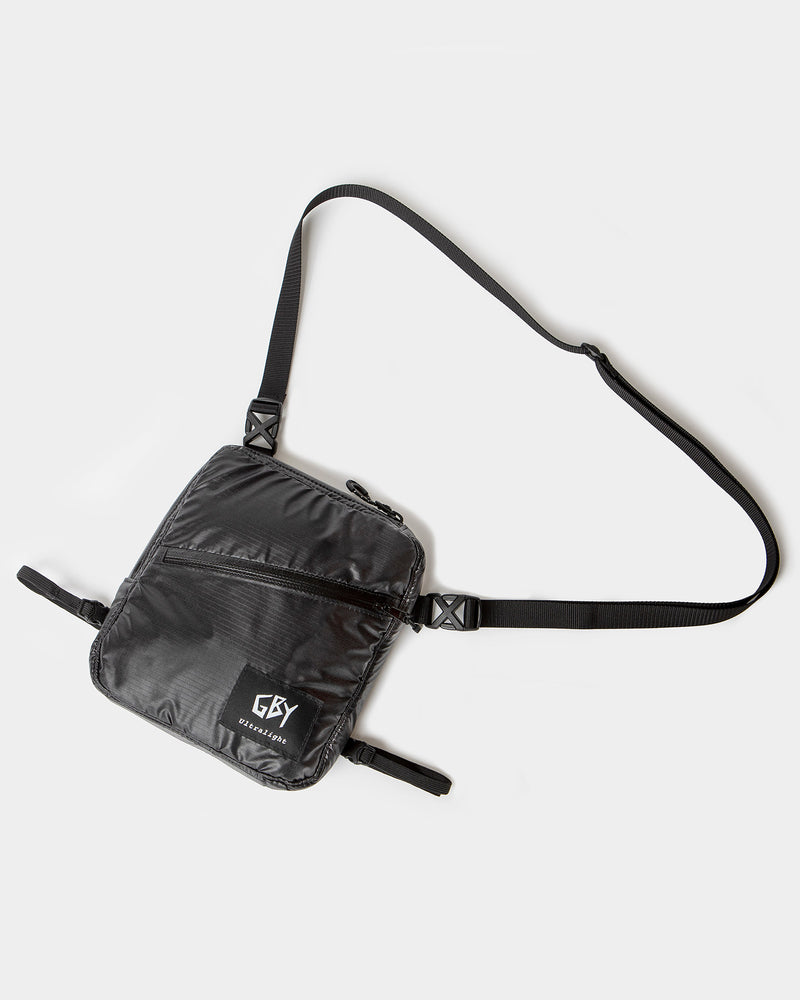 color: black ~ alt: GBY Ultralight - Cross-Body Bag 01 ~ info: With elastic waist strap (included)