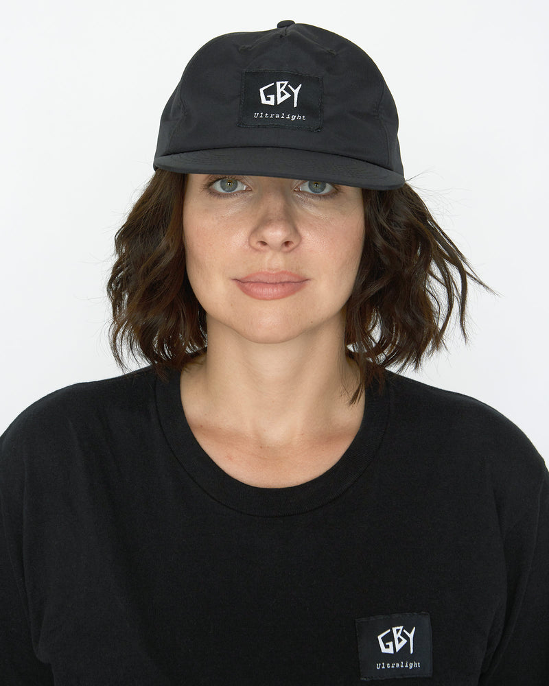 color: black ~ alt: GBY Ultralight Black Label Hat