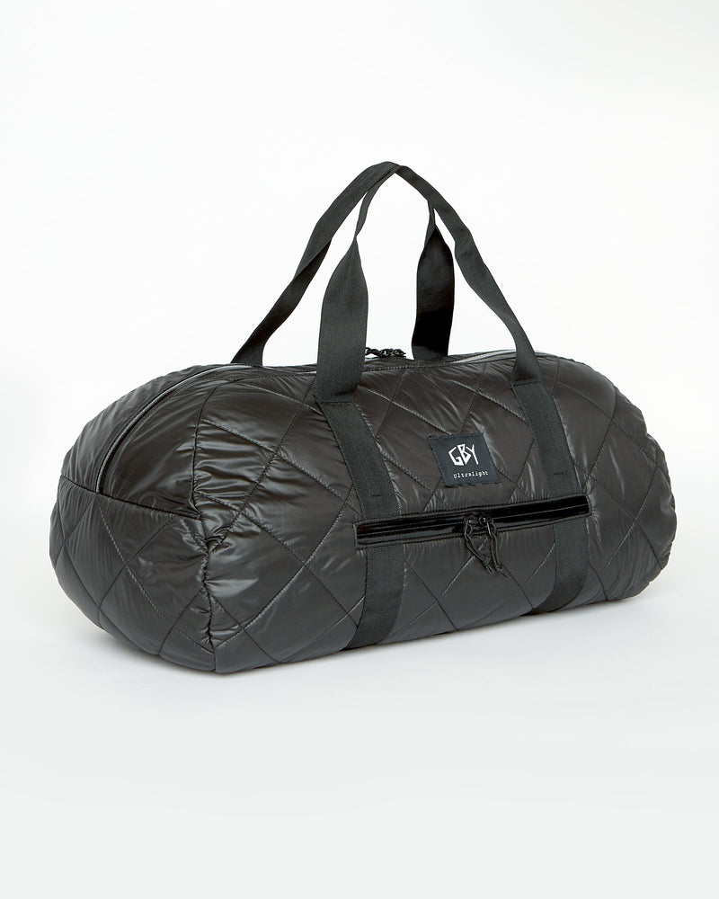 color: black ~ alt: GBY Ultralight - Quilted Gym Duffel Bag 3/4 View
