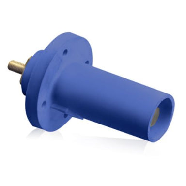 17 Series Cam-Type 90 Degree Male Panel Mount Receptacles, Threaded Stud Termination, 250-750MCM, 690 Amp Max, blue