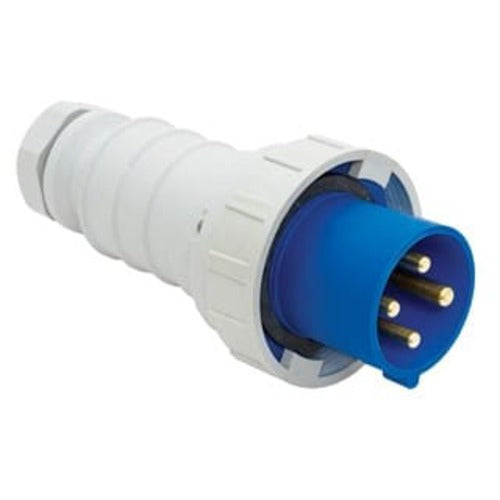 Arrow Hart Plug Pin&Sleeve 100A 250V 3PH 3P4W White  Blue